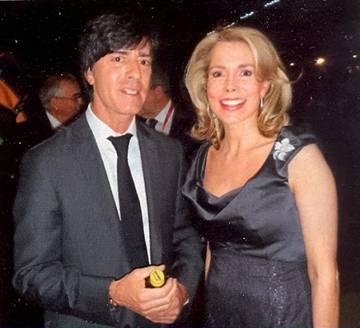 Йоахим Лёв с женой фото