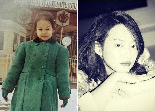 Шин Мин А в детстве и сейчас фото