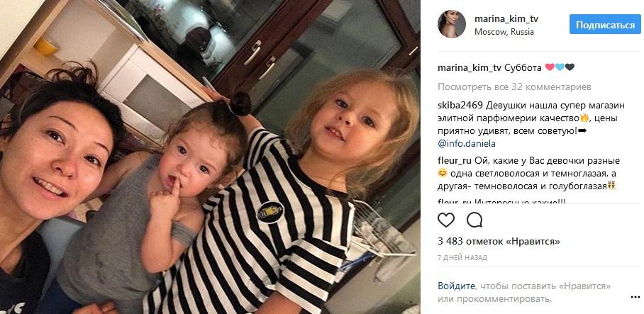 Марина Ким с дочерьми фото