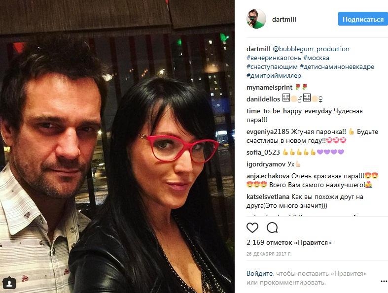 Дмитрий Миллер с женой фото