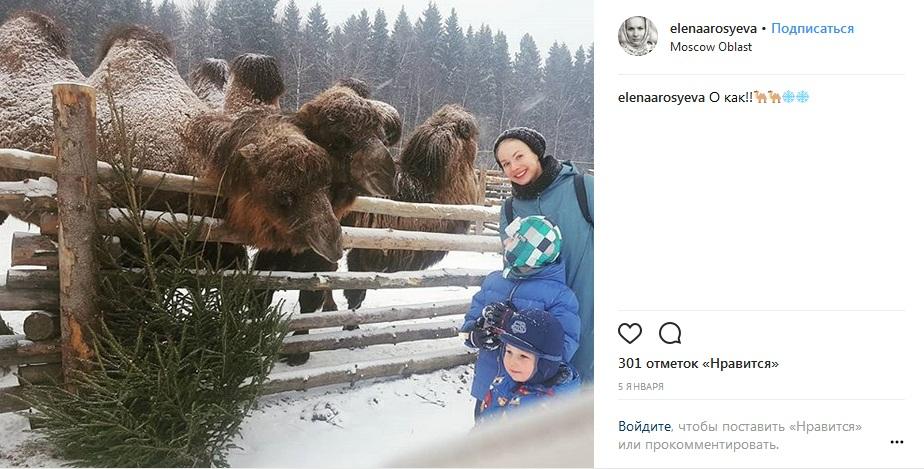 Елена Аросьева с сыновьями фото