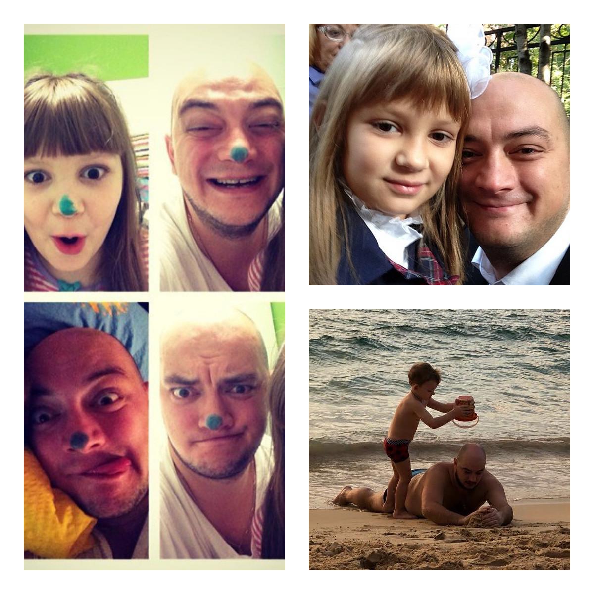 Роман Юнусов с дочерью и сыном фото
